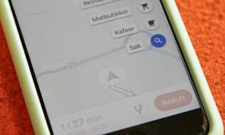 """SØK: Finn søk under forstørrelsesglasset, og skriv inn """"ev charger eller lignende. Foto: Christina Honningsvåg"""