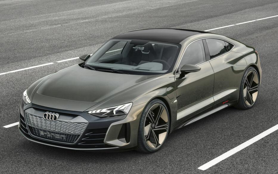 FREKK SAK: Audi utnytter GT-konseptet til fulle i bilen de kaller, ja nettopp, GT Concept. Foto: Audi