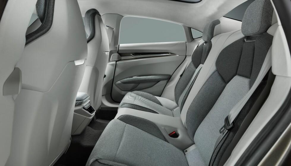 2+2: Konseptbilen er formet som en fireseter, og vi tviler på at den blir annerledes i produksjonsversjonen. Ser det litt trangt ut? Foto: Audi