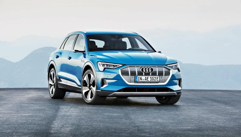 FULL FORVIRRING: Det hersker stor usikkerhet rundt hva prisene på ekstrautstyr til nye Audi e-tron vil ligge på. Foto: Audi