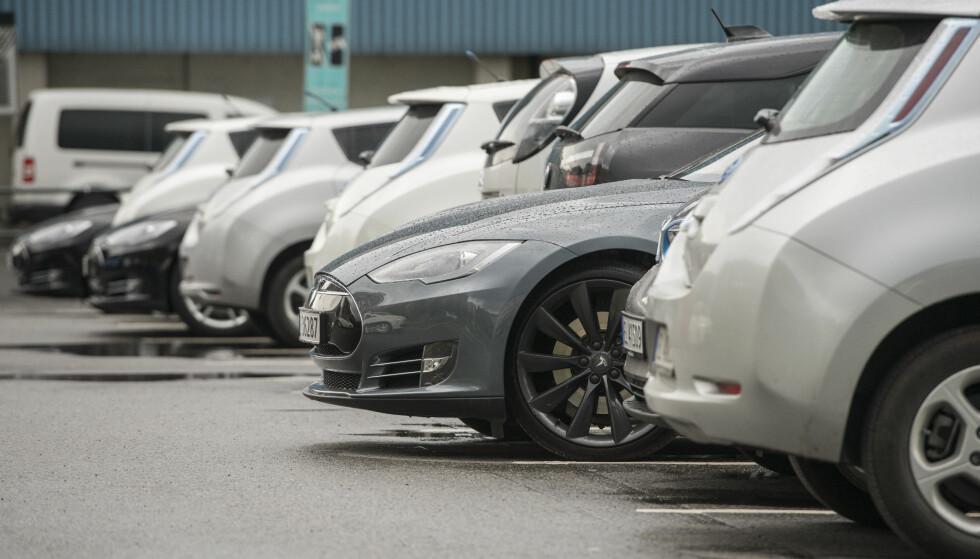 STOR INTERESSE: Interessen for brukte elbiler til salgs øker kraftig. Foto: NTB Scanpix