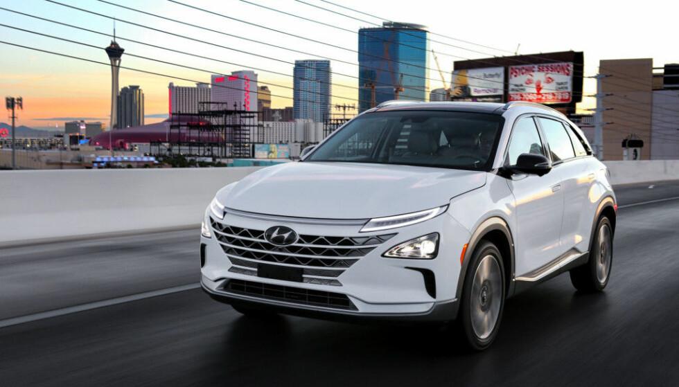 HØY SCORE: Hyundai Nexo fikk full pott i test av sikkerhetssystemer. Foto: Hyundai