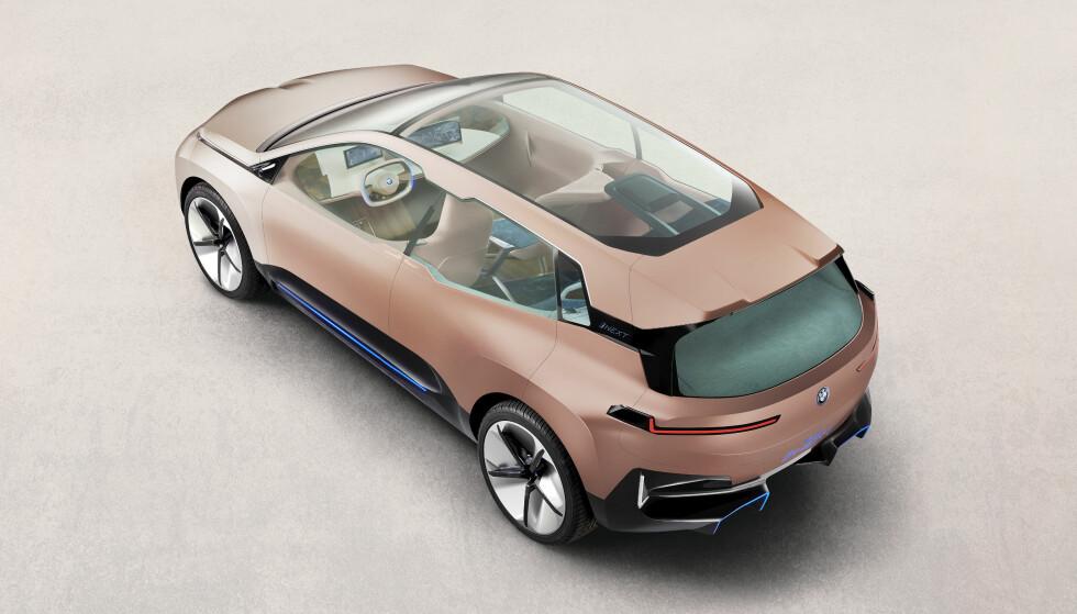 iNEXT: Bilen skal i produksjon i 2021, og være en bil i størrelse med dagens X5. Foto: BMW