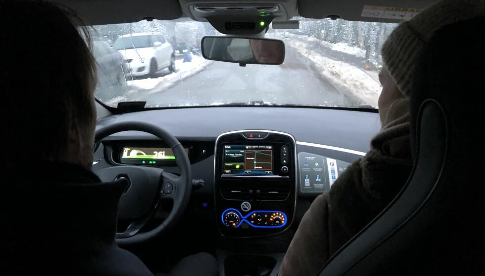 INTUITIV: Bilen i seg selv er intuitiv nok. Det samme kan ikke sies om alt i appen. Foto: Fred Magne Skillebæk
