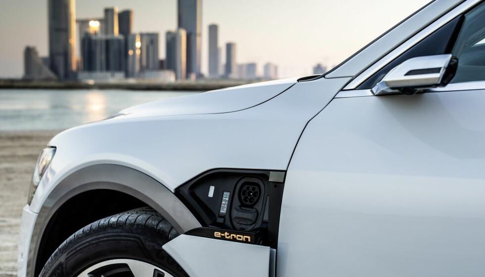 ENKEL LADING: e-tron Charging Service skal gjøre ladingen enkel for bileierne gjennom et stort europeisk ladenettverk. Foto: Audi