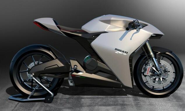 ZERO: Sånn tror man den nye Ducati Zero vil se ut. Foto: Ducati