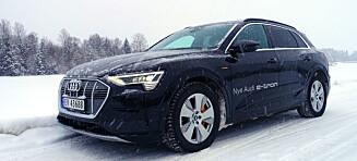 Audi e-tron i vintertest