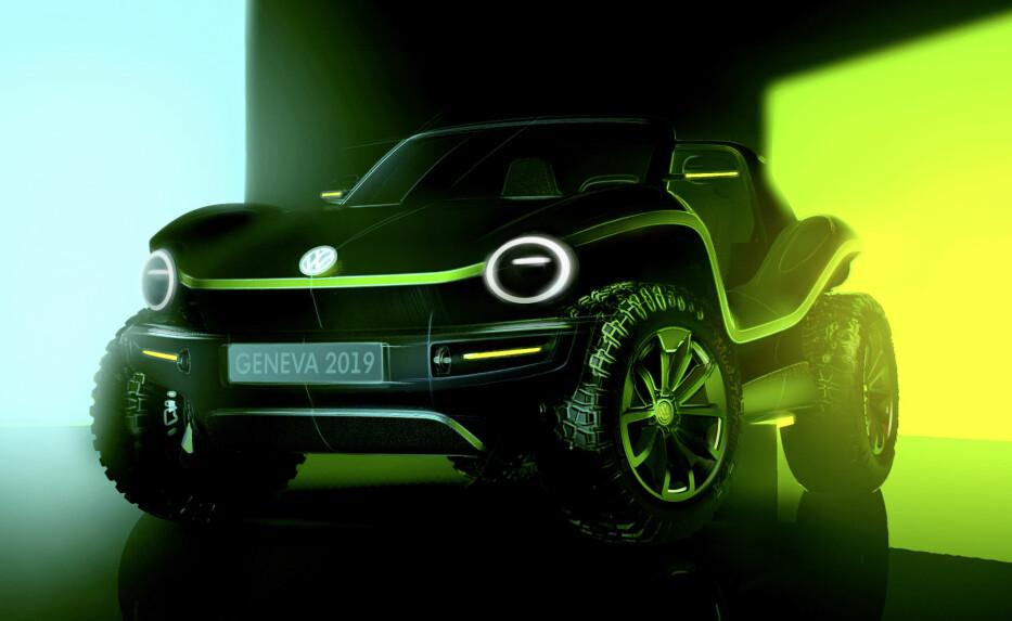 """""""NY"""" DUNE BUGGY: I mars vises VW nye konseptbil Beach Buggy frem. Bilen er en gjenoppliving av 60 og 70-tallets klassiker. Foto: VW"""