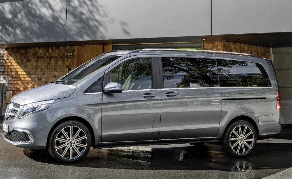 VAREBIL FOR FAMILIEN: Mercedes-Benz skal vise en helelektrisk varebil for familier under Geneva Motorshow i mars. Foto: Daimler