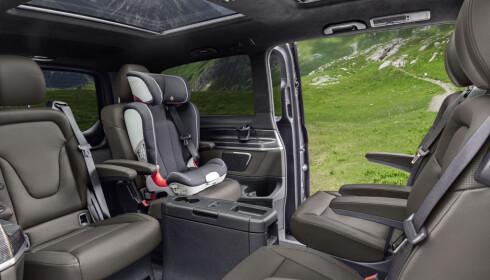 ROMSLIG: Den nye V-klassen til Mercedes-Benz skal komme i en hel-elektrisk versjon. Foto: Daimler