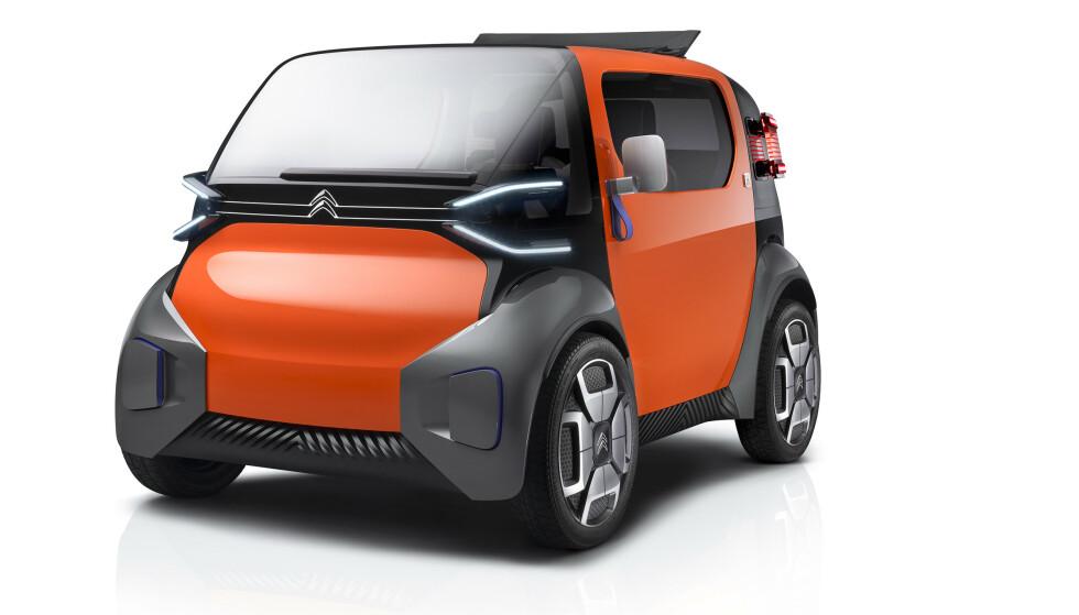 LITEN OG URBAN: Lille Ami One Concept er Citroëns alternativ til urban transport. Bilen kan leies i fem minutter, eller leases i lengre perioder. Foto: Citroën