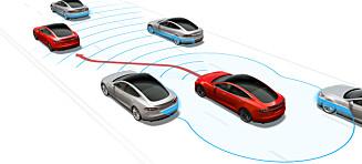 Norge først ute med ny Tesla-oppdatering