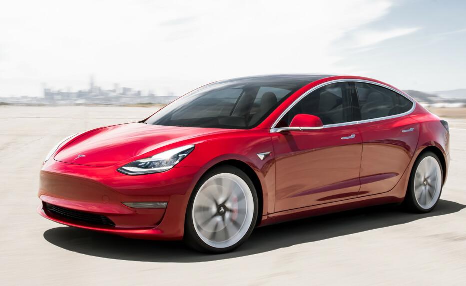 BILLIGSTE UTGAVE: Tesla har nå kunngjort at den rimeligste modellen skal slippes på markedet. Foto: Tesla