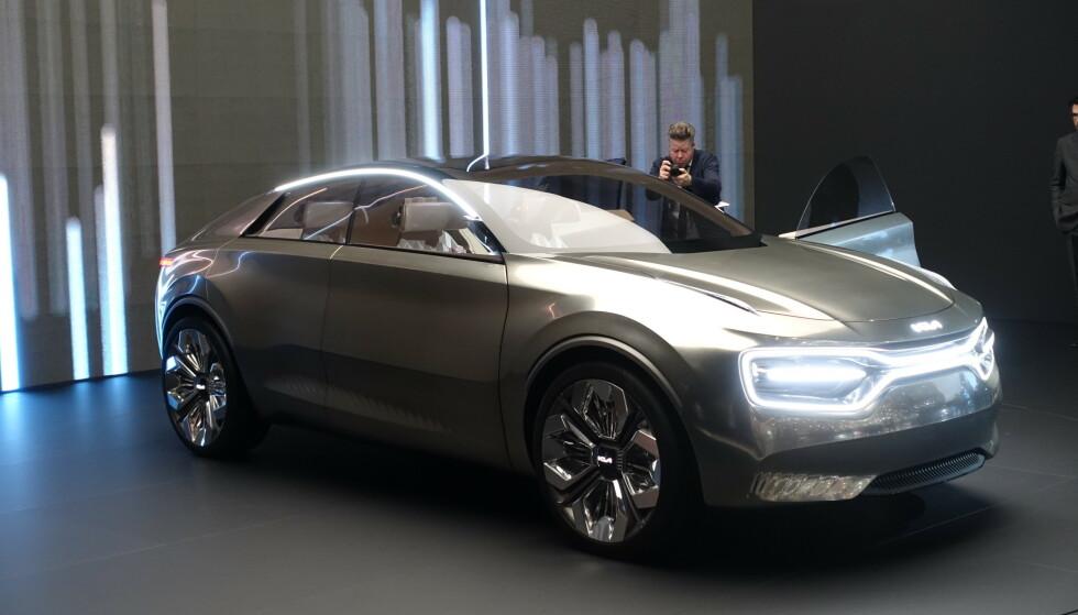 EMOSJONELL: Kia vil at denne bilen skal få eieren emosjonelt investert i bilen. Foto: Fred Magne Skillebæk