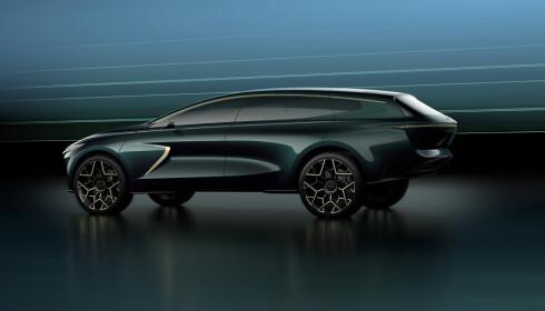 LANG HEKK: Bakenden på bilen er trukket lengre bakover en tradisjonelle SUV'er. Foto: Aston Martin