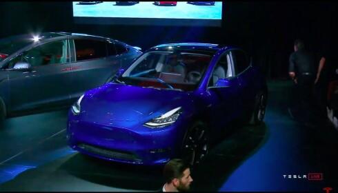 MINI-SUV? Litt mindre enn Model X og litt større enn Model 3. Foto: Skjermdump