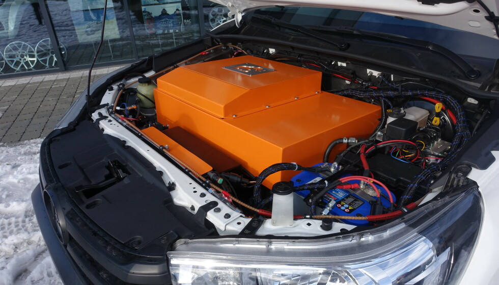 BYTTET: Motor er byttet med elektronikk. Foto: Fred Magne Skillebæk