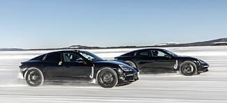Vi ble med på vintertest av Porsche Taycan