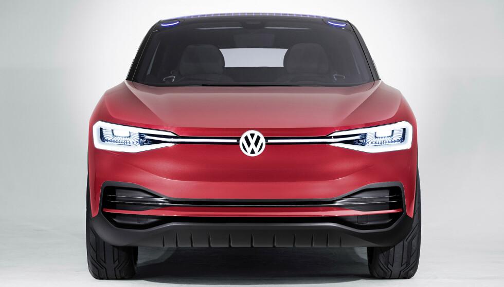 SÆRPREG: Vi kan anta at designspråket blir adoptert fra konseptbilen av VW I.D. Crozz. Foto: VW