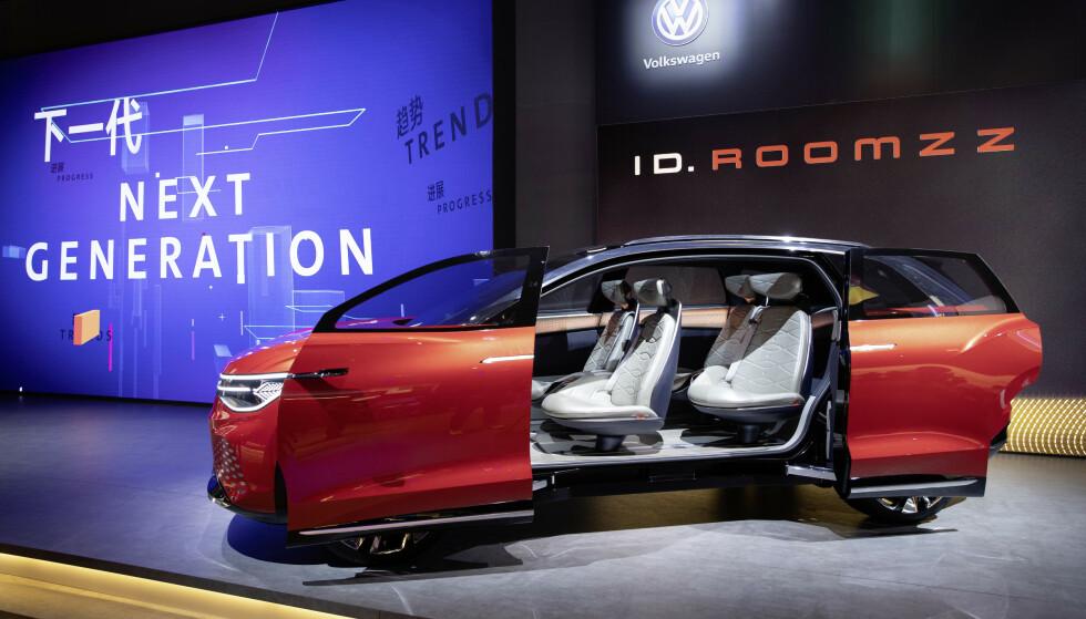 SESAM-SESAM: ID. Roomzz har doble skyvedører for stor åpning, i det minste på konseptstadiet. Foto: VW