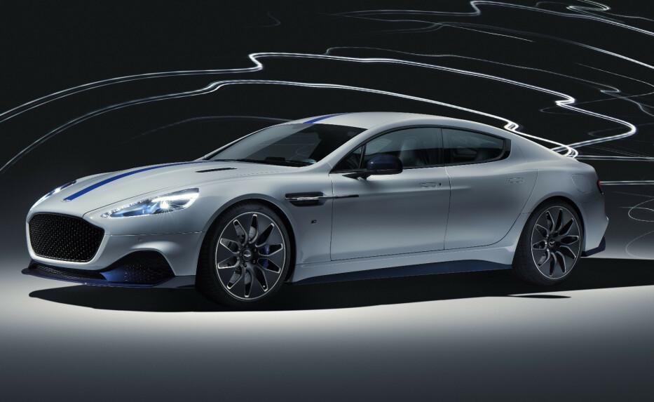PRODUKSJONSKLAR: Aston Martin Lagonda Rapide E er klar for markedet. Foto: Aston Martin