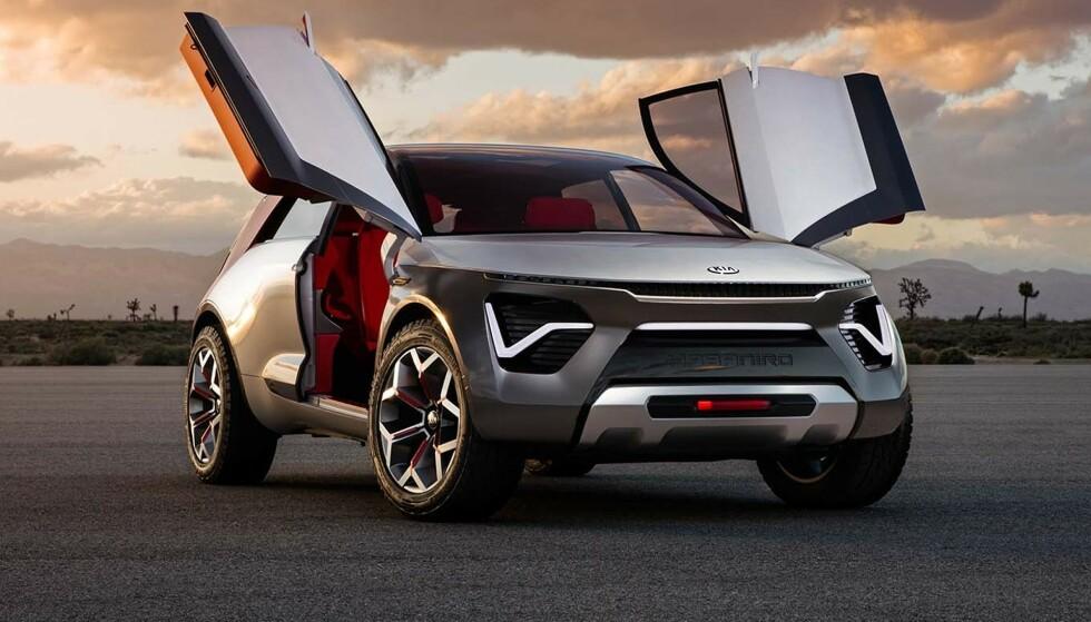 MYE KRYDDER: Kia HabaNiro skal gi innblikk i fremtidens biler fra bilprodusenten. Foto: Kia