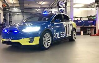 Her er også politibilene elektriske