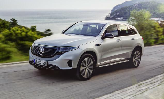 EQC: Bilen er en SUV, og er på mange måter en elektrisk utgave av Mercedes-Benz GLC. Foto: MB