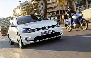 VW e-Golf på topp