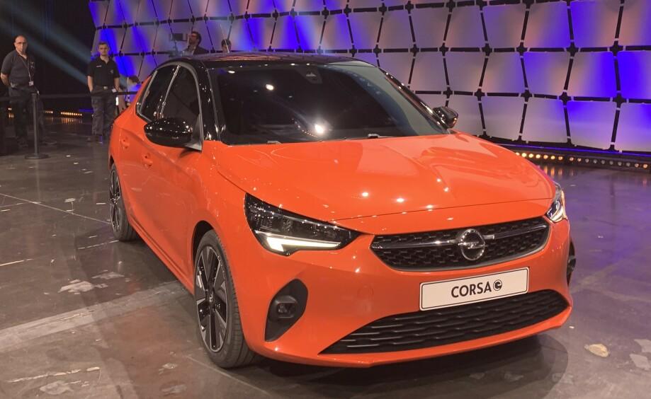 FIN PRIS: Nye Opel Corsa e ble i dag vist i Russelsheim, Tyskland. Prisen er heller ikke avskrekkende. Foto: Christina Honningsvåg
