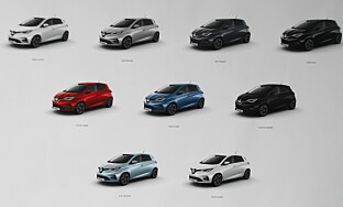FARGEVALG: Bilen kommer i mange ulike farger. Foto: Fred Magne Skillebæk