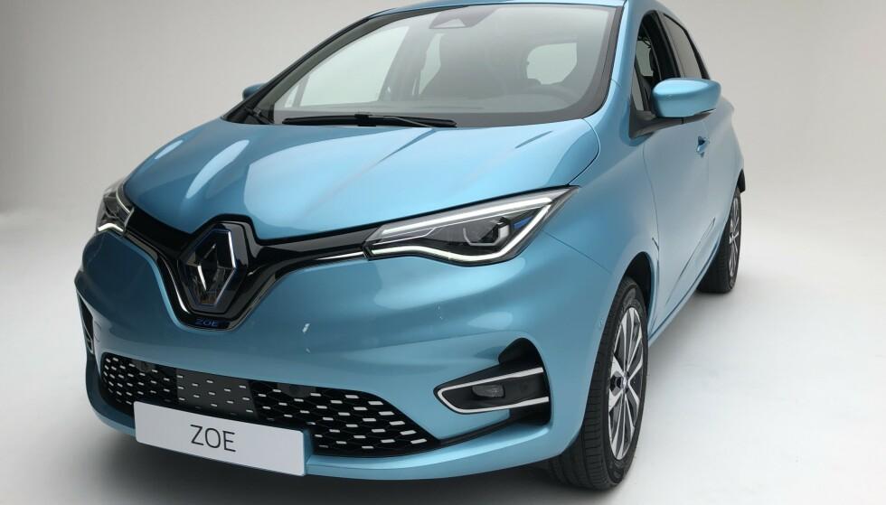 OPPGRADERT: Renault Zoe kommer med flere oppgraderinger, i hovedsak på innsiden. Foto: Fred Magne Skillebæk