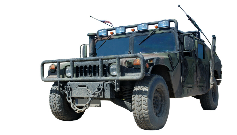 HUMVEE: Slik ser den originale militære Humvee ut. Foto: NTB Scanpix.