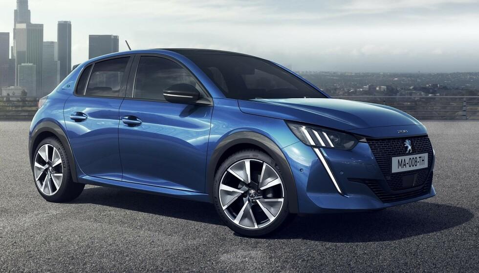 FREKK: e-208 er en romslig bil som har vokst seg noe opp i størrelse. Foto: Peugeot