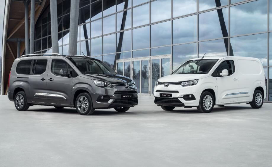 BLIR ELEKTRISKE: Toyota PROACE og nye PROACE City kommer i el-versjoner. Foto: Toyota
