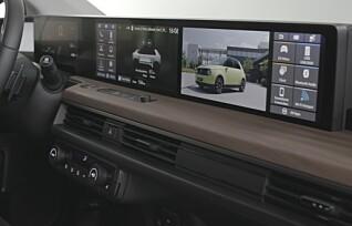 Slik fungerer skjermene i Honda e