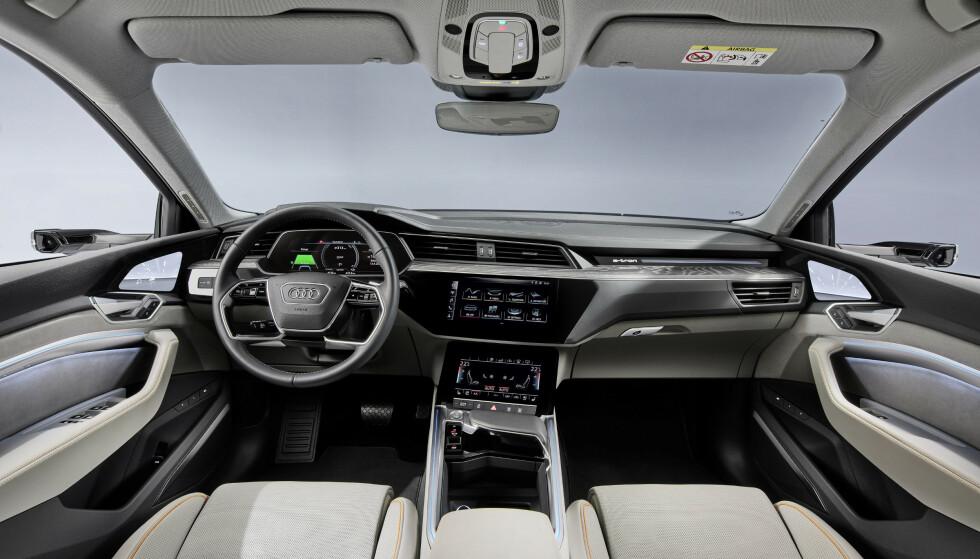 KJENT MILJØ: Også innvendig har Audi tatt med seg alt det kjente. Foto: Audi
