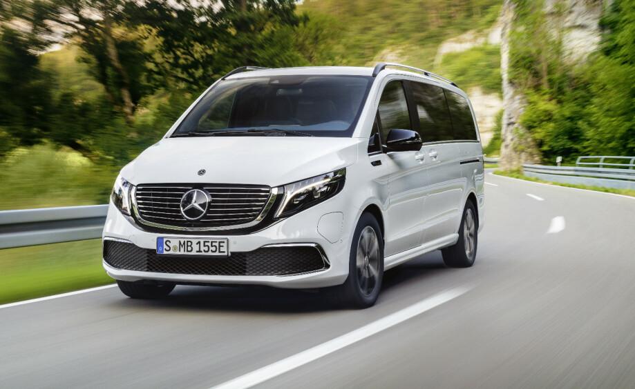 EQV: Mercedes Benz nye elvarebil kan ta imot lynlading på inntil 110 kW. Foto: Daimler