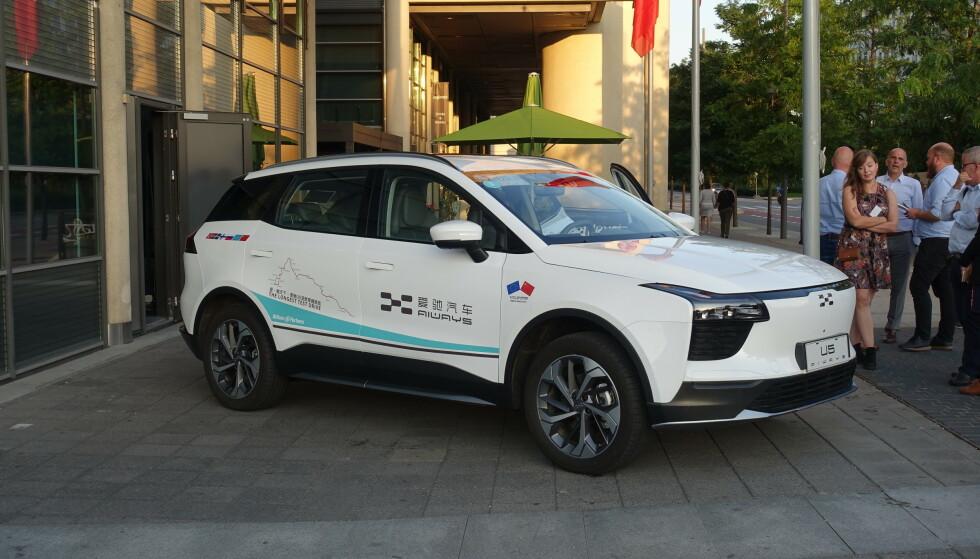 Her viser kinesiske Aiways frem sin nye elbil i Oslo