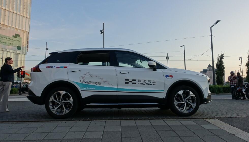 SUV: Bilen fremstår som en SUV eller Crossover. Dørhåndtakene ligger felt inn i døren under kjøring. Foto: Fred Magne Skillebæk