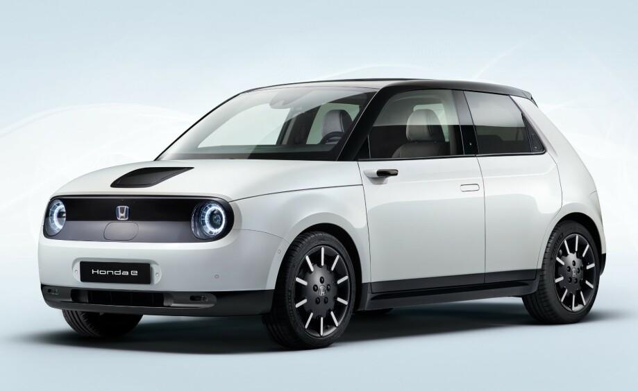 ENDELIG VERSJON: Slik vil produksjonsversjonen av Honda e se ut. Foto: Honda