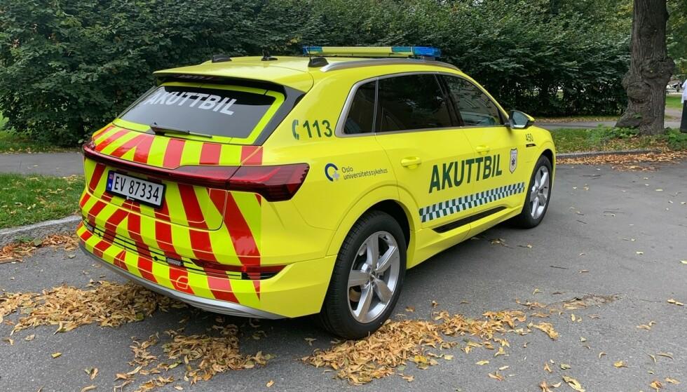 PASSER: Bagasjerommet er en av grunnene til at valget falt på Audi e-tron. Foto: OUS