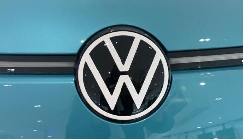 NY: VW har byttet ut logoen sin, og ID.3 er første bil ut med denne i front. Foto: Christina Honningsvåg