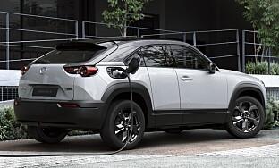 SUV: MX30 er en elektrisk femseters SUV. Foto: Mazda