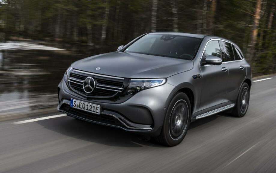 MÅ FIKSES: Mercedes-Benz EQC tilbakekalles, for å fikse et problem som kan føre til at fører mister kontroll over bilen.