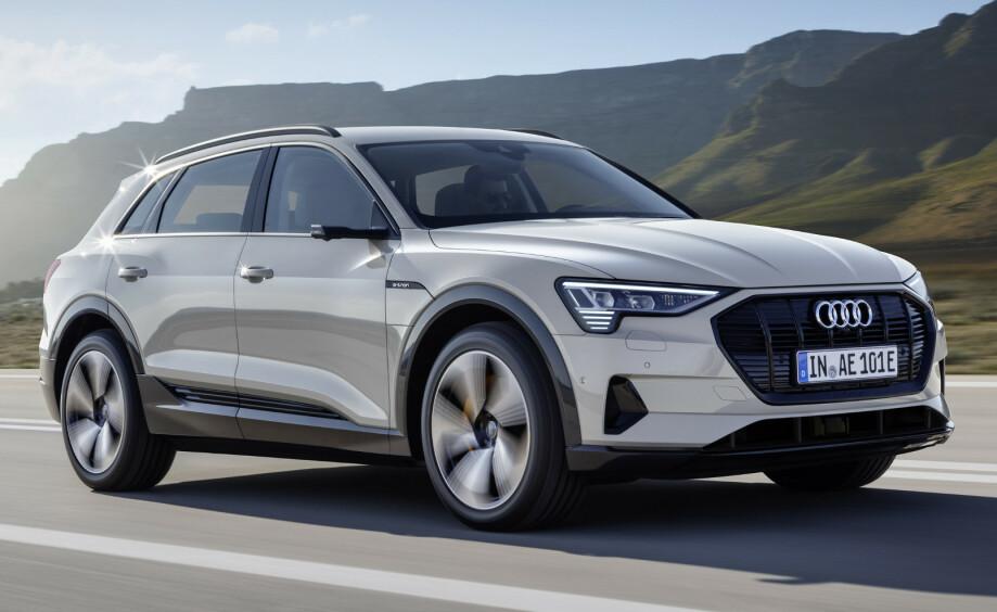 OKTOBER: Audi e-tron stakk av med seieren for månedes mest registrerte bil i oktober. Foto: Audi