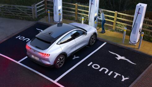 IONITY: Ford er en del av Ionity, og kan ta ladeeffekt på inntil 150 kW.