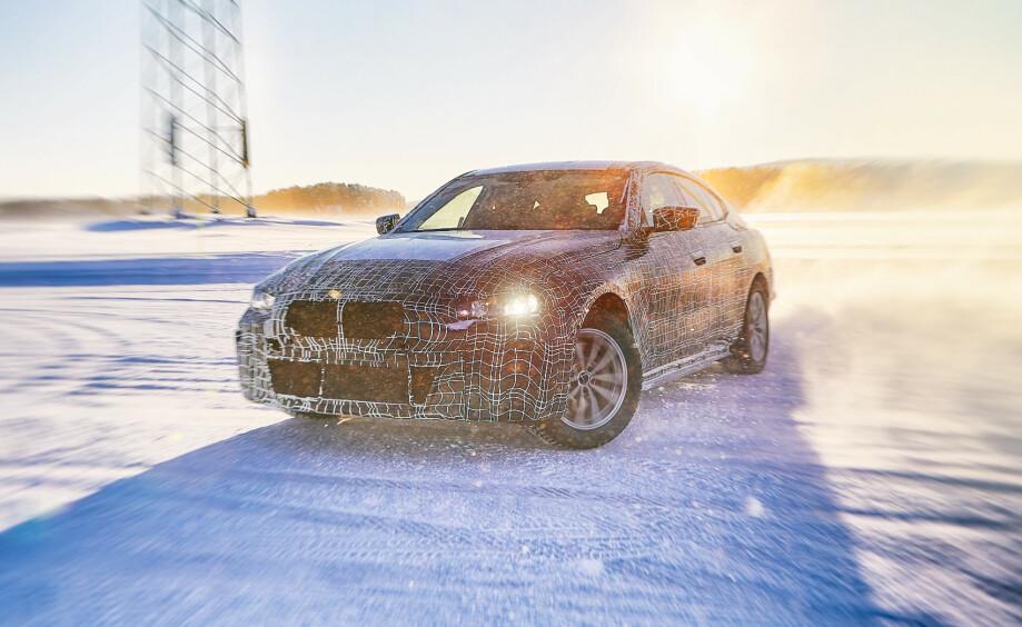 SPYDSPISS: BMW i4 skal vise hva merket skal levere på elbilfronten i fremtiden. Foto: Produsenten.