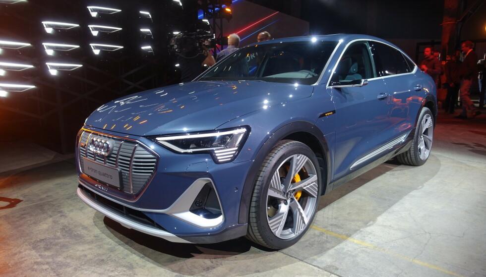 HEFTIG: Audi har trukket frem en front som minner lite om det vi kjenner fra før. Foto: Fred Magne Skillebæk