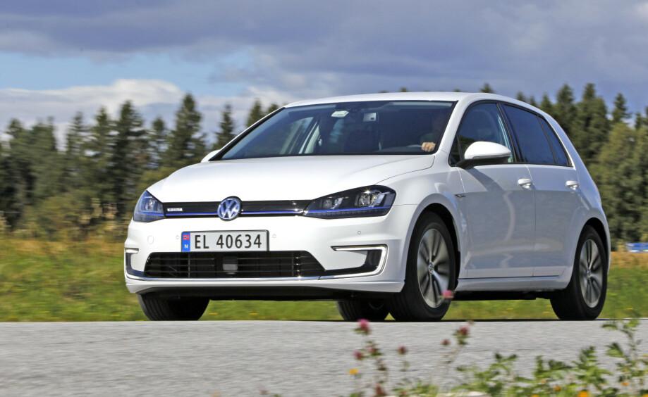 VINNEREN: VW e-Golf toppet registreringsstatistikken for november. Foto: Jamieson Pothecary